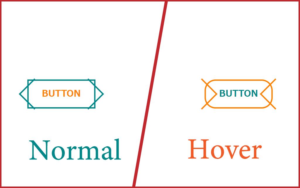 ボタン素材の通常時とホバー時のデザイン