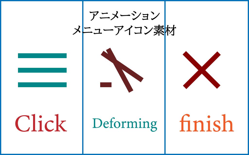 メニューアイコンのアニメーションイメージ