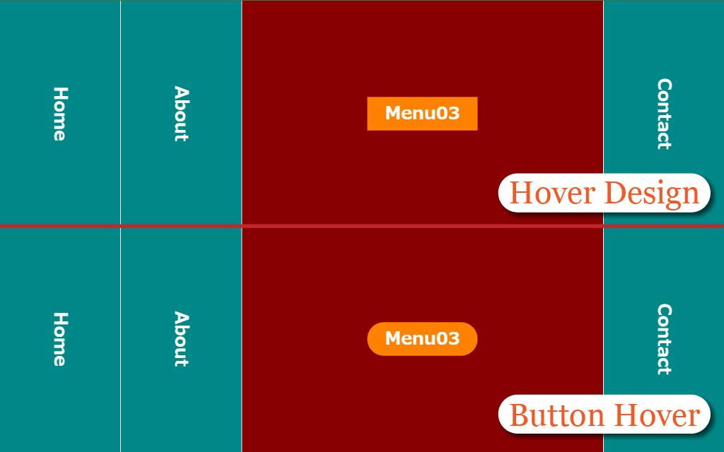 ナビのボタンのホバーエフェクトのイメージ