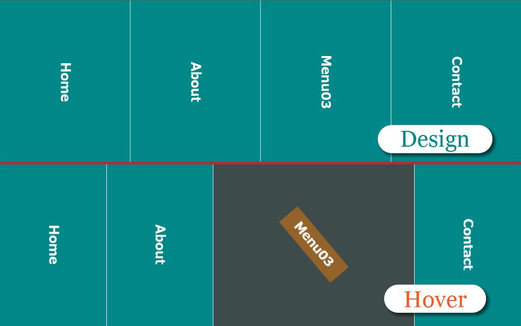 フルスクリーンナビのデザインイメージ