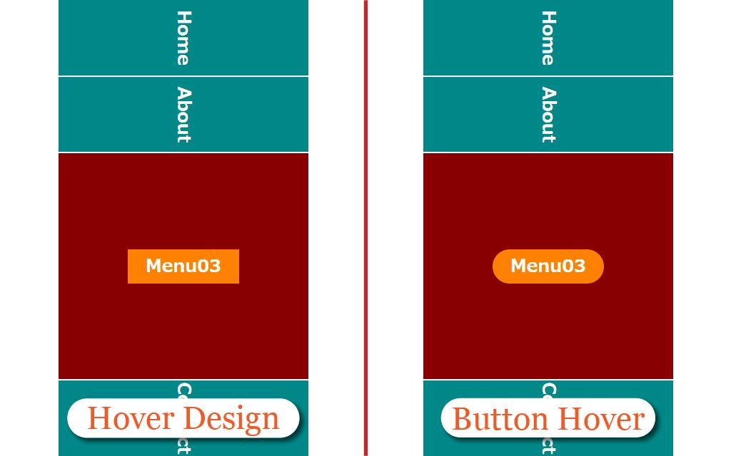 スマホ画面でのボタンホバーエフェクトイメージ
