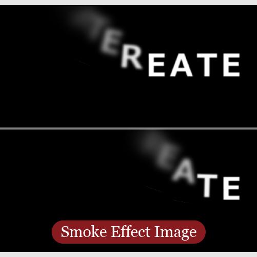 文字が煙のように消えるエフェクトのイメージ