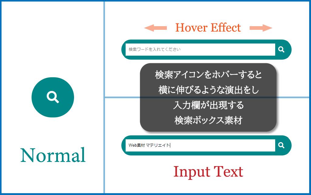 検索ボックスのデザインイメージ